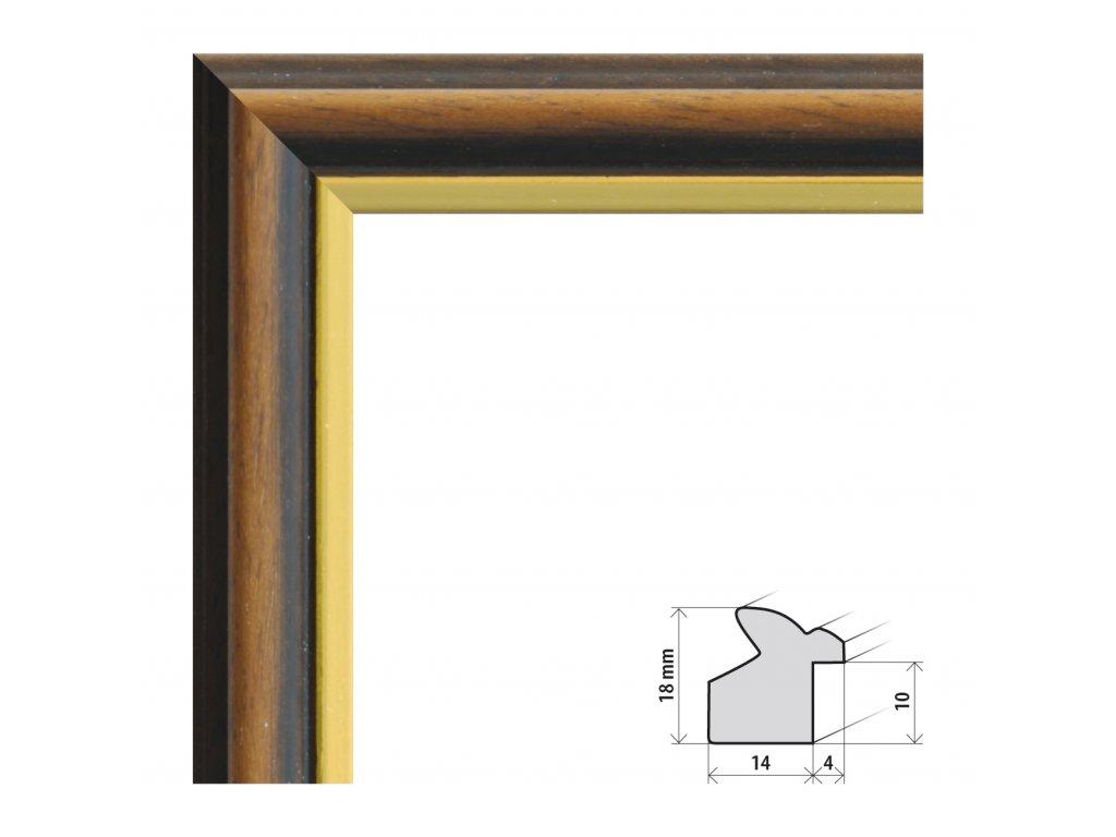 Fotorámeček 40x40 cm Heidelberg s plexisklem (Plexisklo čiré)