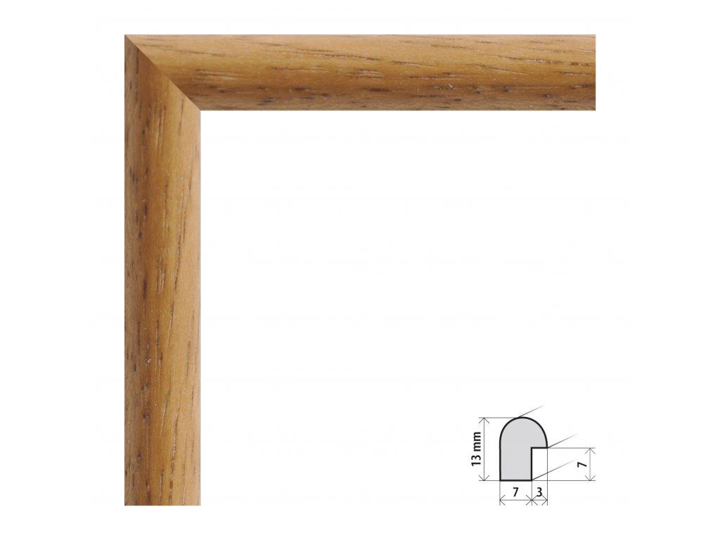 Fotorámeček 10x15 cm Vídeň dub s plexisklem (Plexisklo čiré)