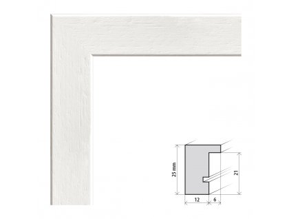 Fotorámeček A2 (42x59,4 cm) Kiel bílá s plexisklem (Plexisklo čiré)