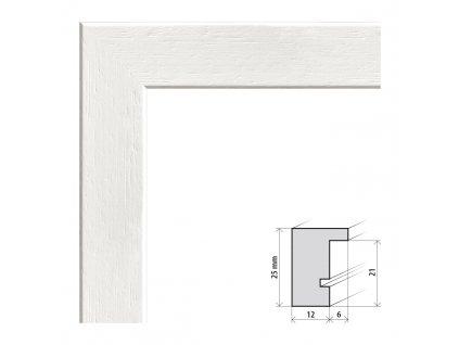 Fotorámeček 50x70 cm Kiel bílá s plexisklem (Plexisklo čiré)