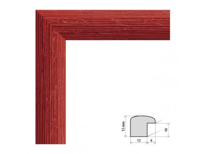 Fotorámeček 40x40 cm Samba červená s plexisklem (Plexisklo čiré)