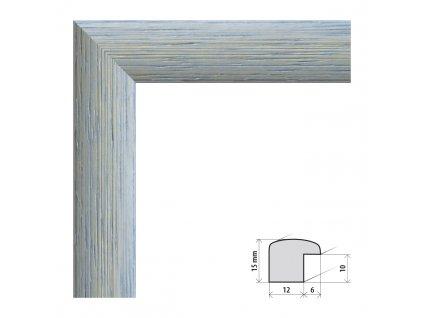 Fotorámeček 40x40 cm Samba RG modrá s plexisklem (Plexisklo čiré)