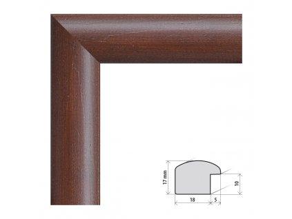 Fotorámeček 61x91,5 cm Porto tmavě hnědá s plexisklem (Plexisklo čiré)