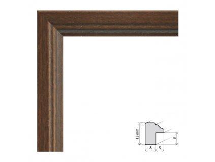 Fotorámeček 9x13 cm Bremen tmavě hnědá s plexisklem (Plexisklo čiré)
