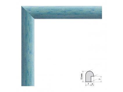 Fotorámeček 9x13 cm Vídeň modrá s plexisklem (Plexisklo čiré)