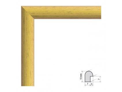 Fotorámeček 9x13 cm Vídeň žlutá s plexisklem (Plexisklo čiré)
