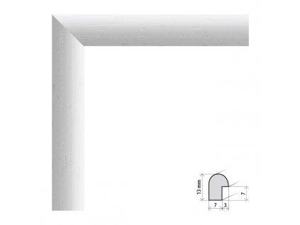 Fotorámeček 9x13 cm Vídeň bílá s plexisklem (Plexisklo čiré)