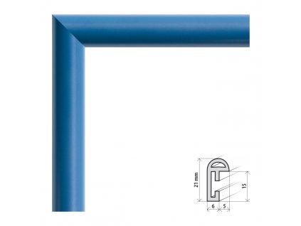 Fotorámeček 9x13 cm BF modrá s plexisklem (Plexisklo čiré)