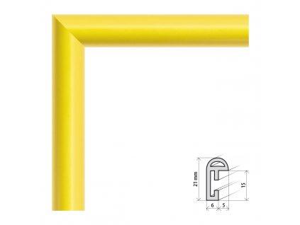 Fotorámeček 9x13 cm BF žlutá s plexisklem (Plexisklo čiré)
