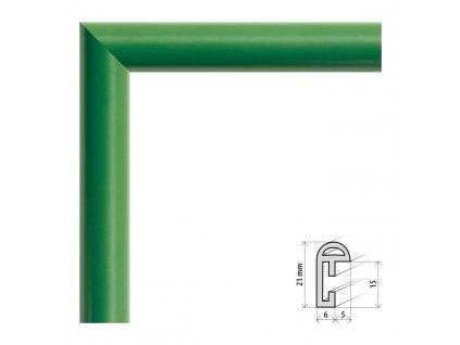 Fotorámeček 9x13 cm BF zelená s plexisklem (Plexisklo čiré)