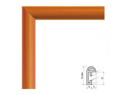 Fotorámeček 9x13 cm BF oranžová s plexisklem (Plexisklo čiré)