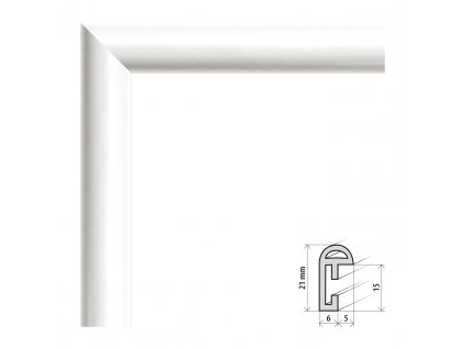 Fotorámeček 20x30 cm BF bílá s plexisklem (Plexisklo čiré)