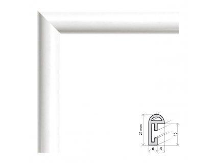 Fotorámeček 50x60 cm BF bílá s plexisklem (Plexisklo čiré)