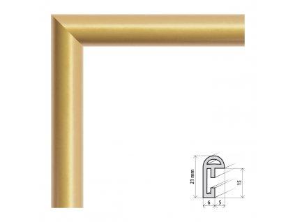 Fotorámeček 10x15 cm BF zlatá s plexisklem (Plexisklo čiré)