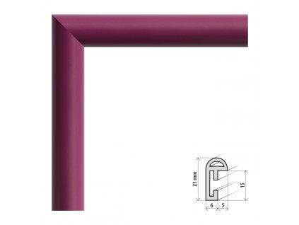 Fotorámeček 9x13 cm BF bordó s plexisklem (Plexisklo čiré)