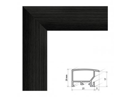 Fotorámeček A2 (42x59,4 cm) ALASKA černá s plexisklem (Plexisklo antireflexní (eliminuje odrazy a odlesky))