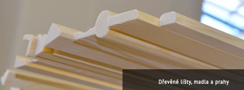 Dřevěné lišty, madla a prahy