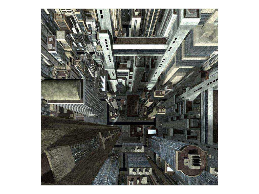 Samolepící fototapeta na podlahu - Mrakodrapy, 170x170cm, 013