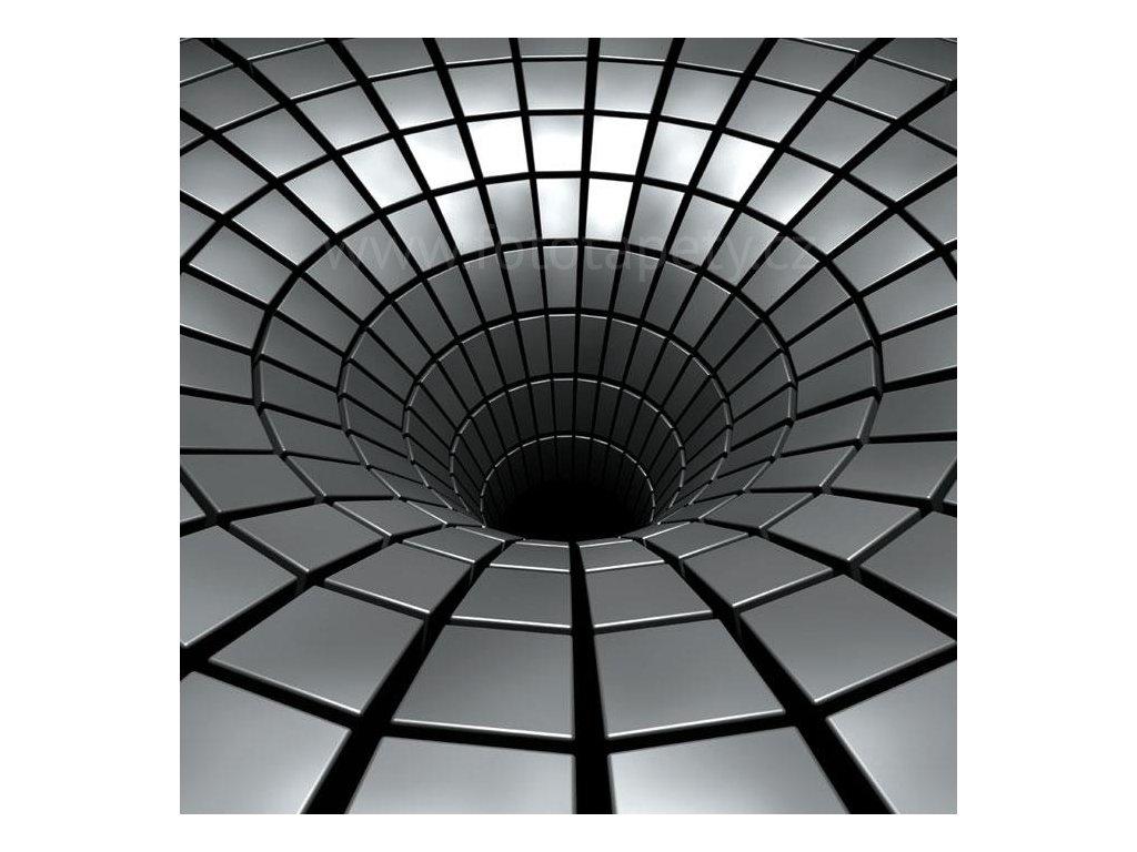 Samolepící fototapeta na podlahu - Stříbrná díra, 170x170cm, 014