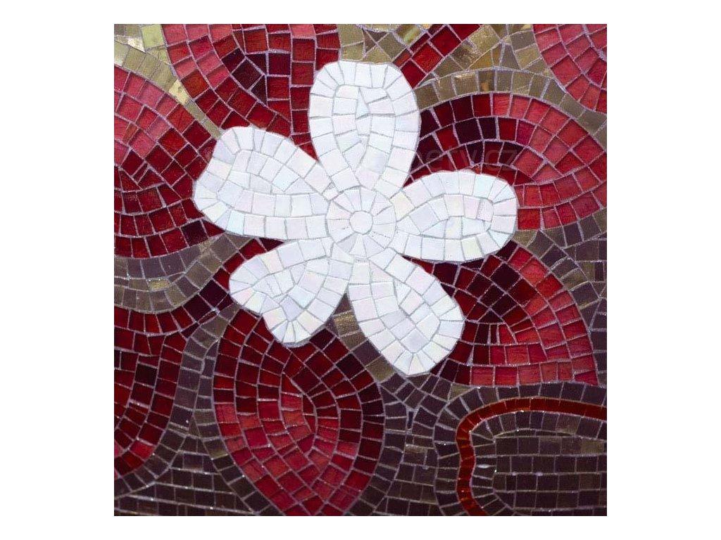 Samolepící fototapeta na podlahu - Červeno fialová mozaika, 170x170cm, 023