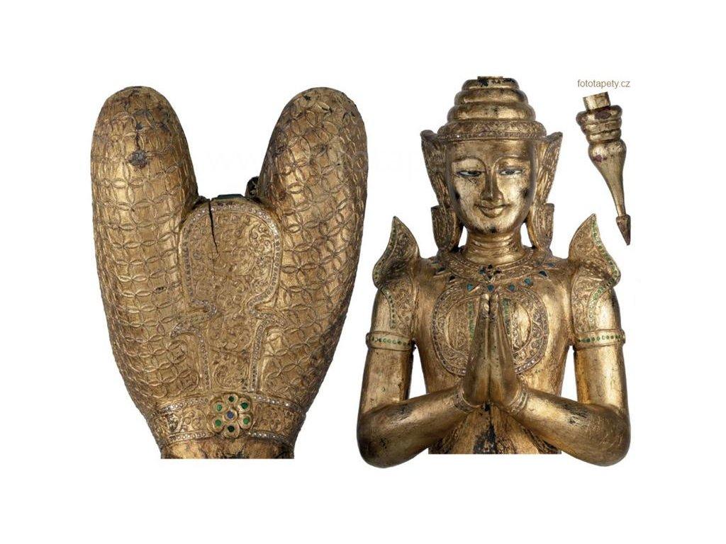 Samolepící dekorace Buddha, 100x70cm, 17701