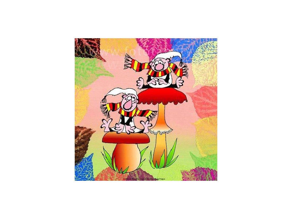 Korková dětská podložka - Křemílek a Vochomůrka - rozměr 25x25 cm