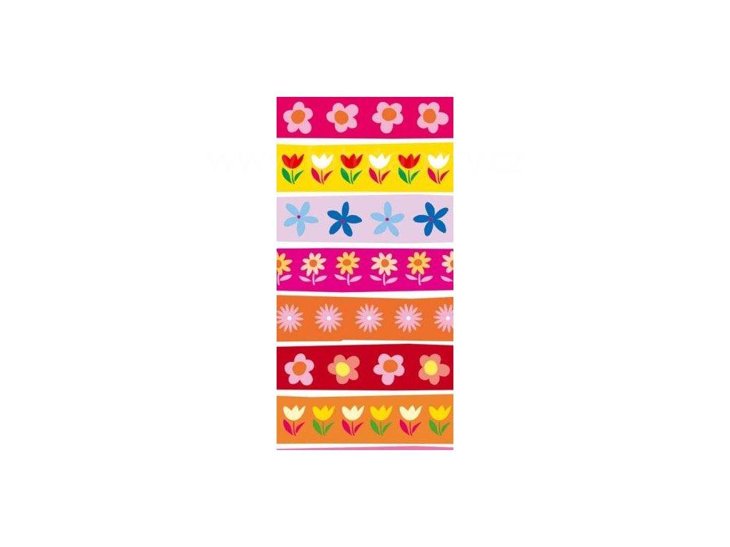 Samolepící fototapeta na dveře - Kreslené květy, 95x210 cm, D037