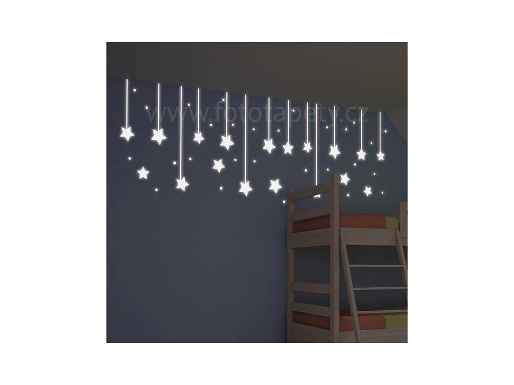 Dětská svítící samolepka - Hvězdy, 31x31cm, 79227