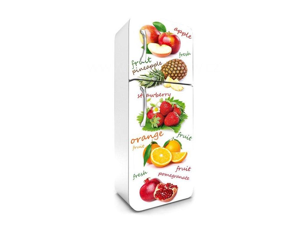 Samolepící fototapeta na lednici - Jablka, ananas, jahody, 65x180cm, 020