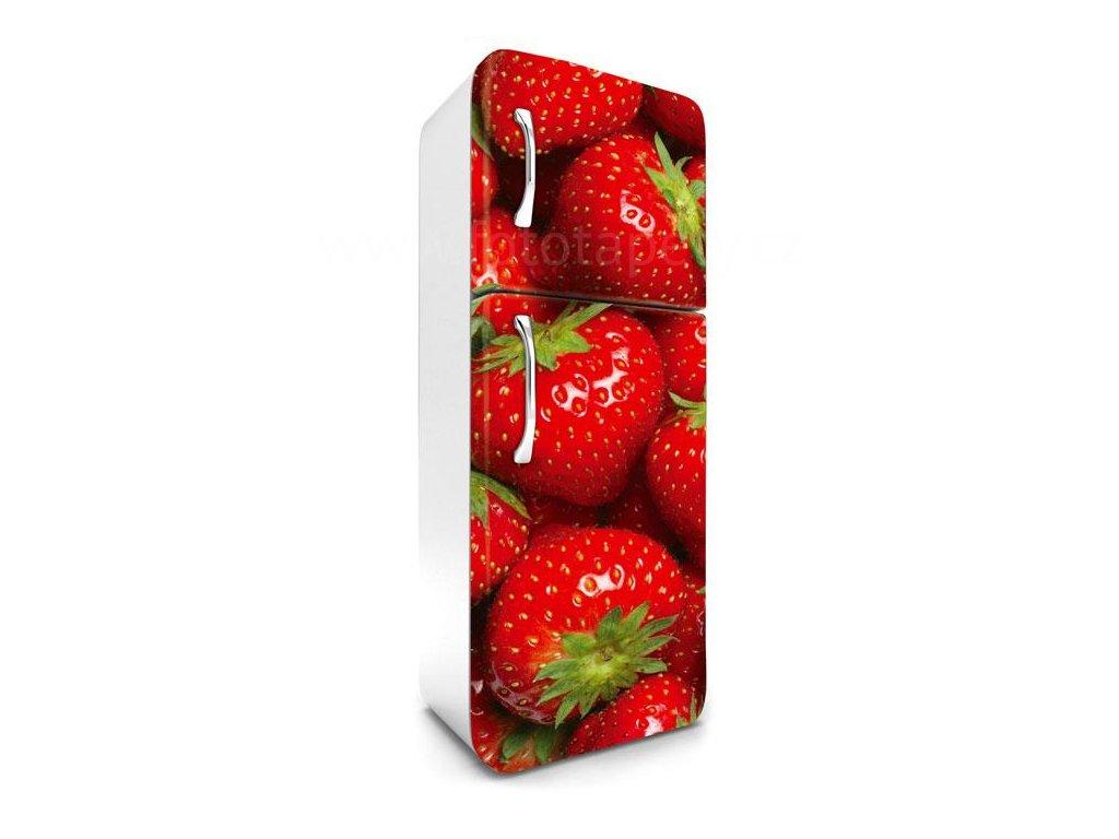 Samolepící fototapeta na lednici - Jahody, 65x180cm, 022