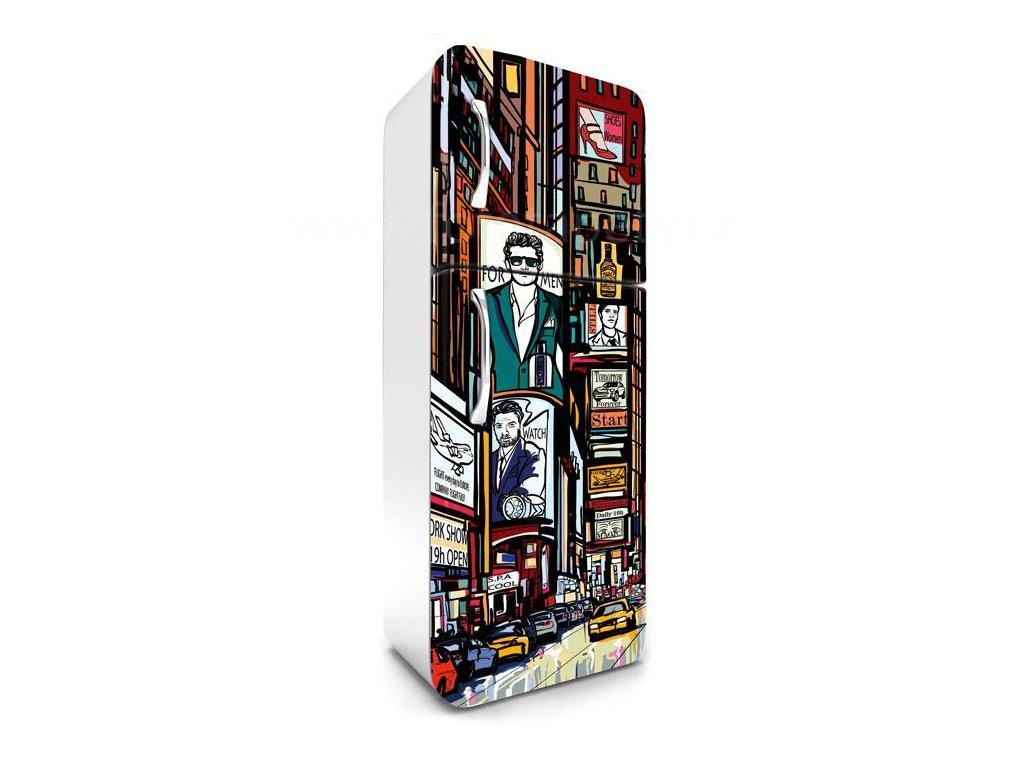 Samolepící fototapeta na lednici - Times square, 65x180cm, 032, skl.