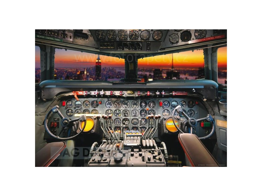 Jednodílná vliesová fototapeta Pilotní kabina FTN m 2609, rozměr 160x110cm