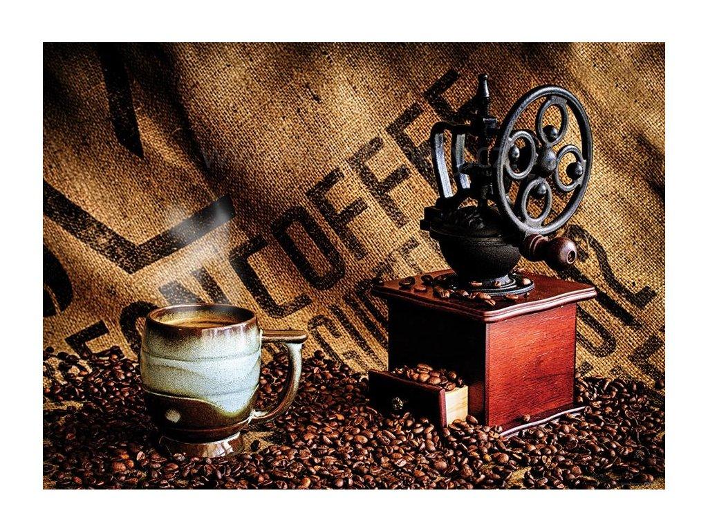 Jednodílná vliesová fototapeta Káva a mlýnek na kávu FTN m 2675, rozměr 160x110cm