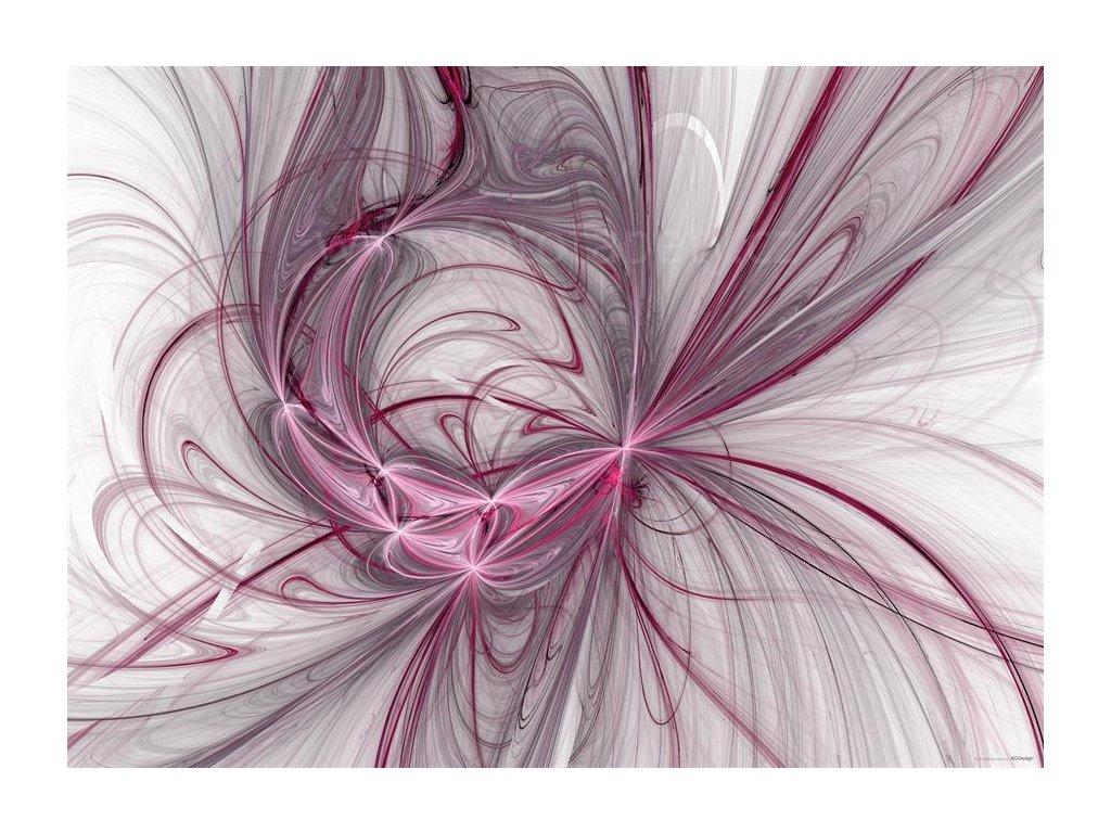 Jednodílná vliesová fototapeta Růžovo šedá abstrakce FTN m 2676, rozměr 160x110cm