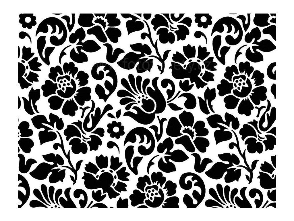 Samolepící tapeta d-c-fix Decor, vzor Barock - černé květy