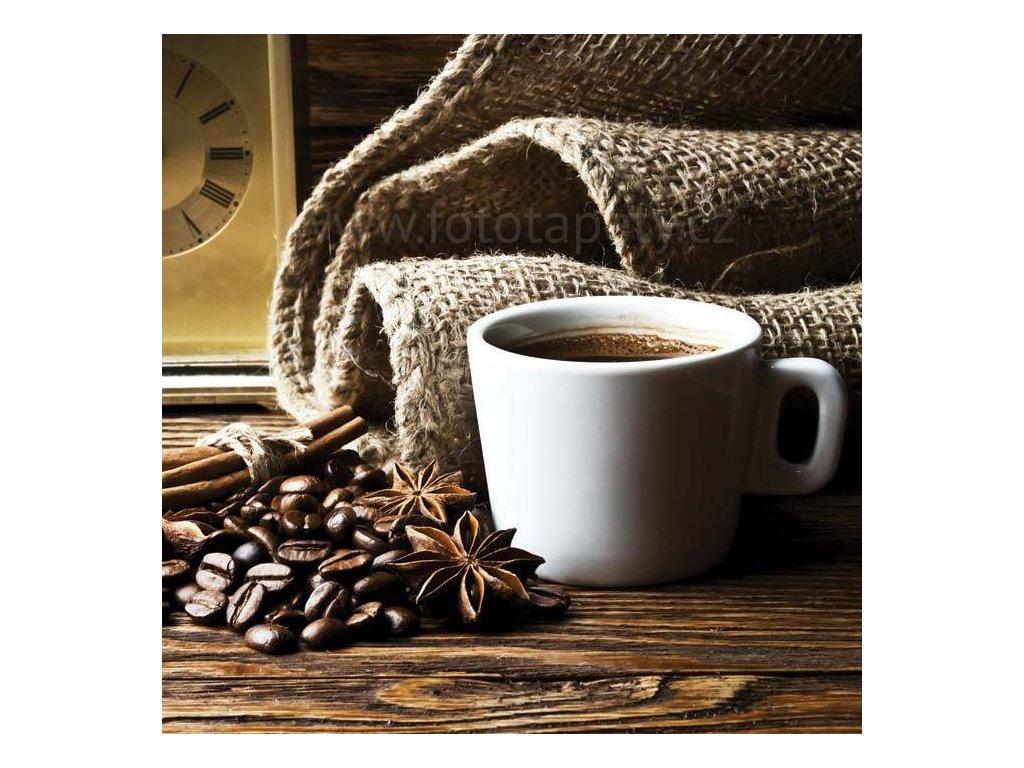 Třídílná vliesová fototapeta Šálek kávy, rozměr 225x250cm, MS-3-0245