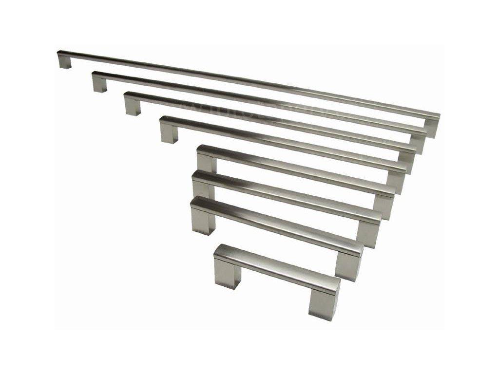kovová úchytka PORTA - povrch imitace nerezi, 96,128,160,192,224,320,432,560,736mm