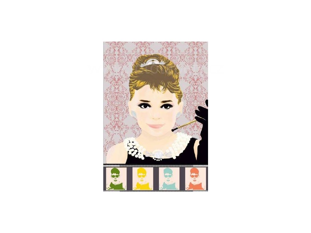 Plakát XXL Papermoon - Audrey , 175x115 cm, skladem 1 ks