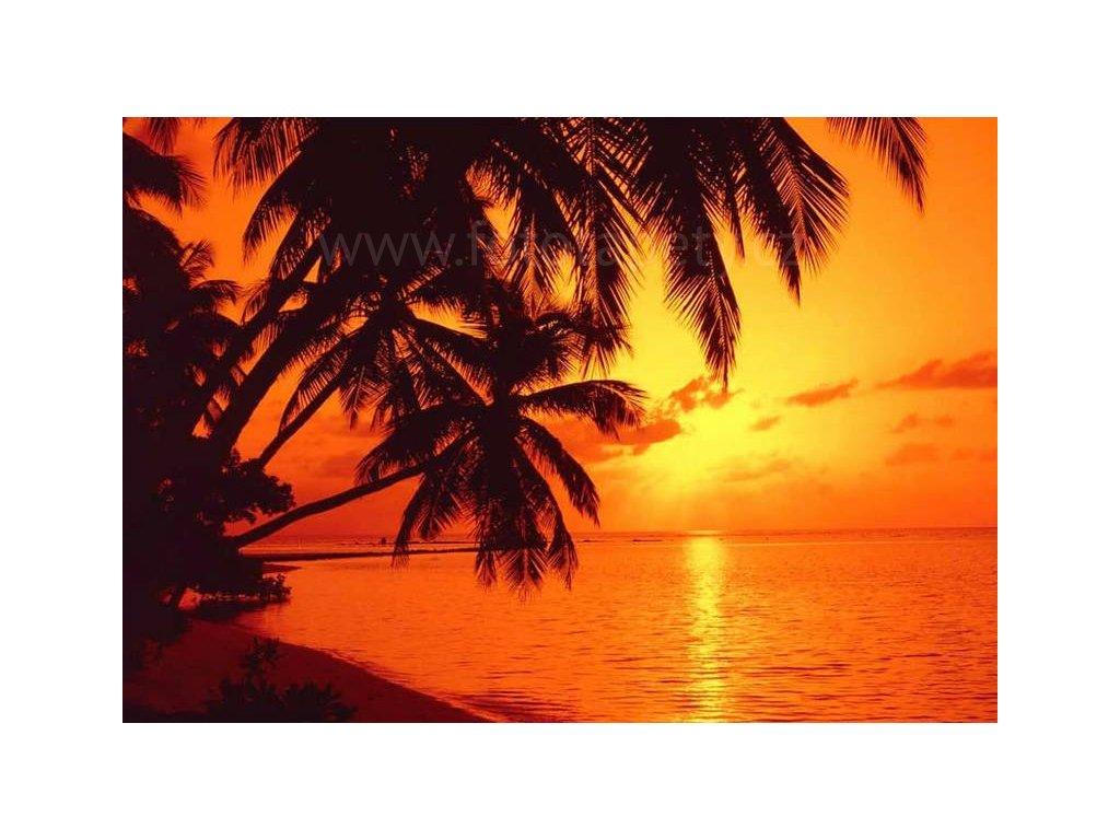 Osmidílná fototapeta Sunset, 366x254 cm, skladem poslední 1ks