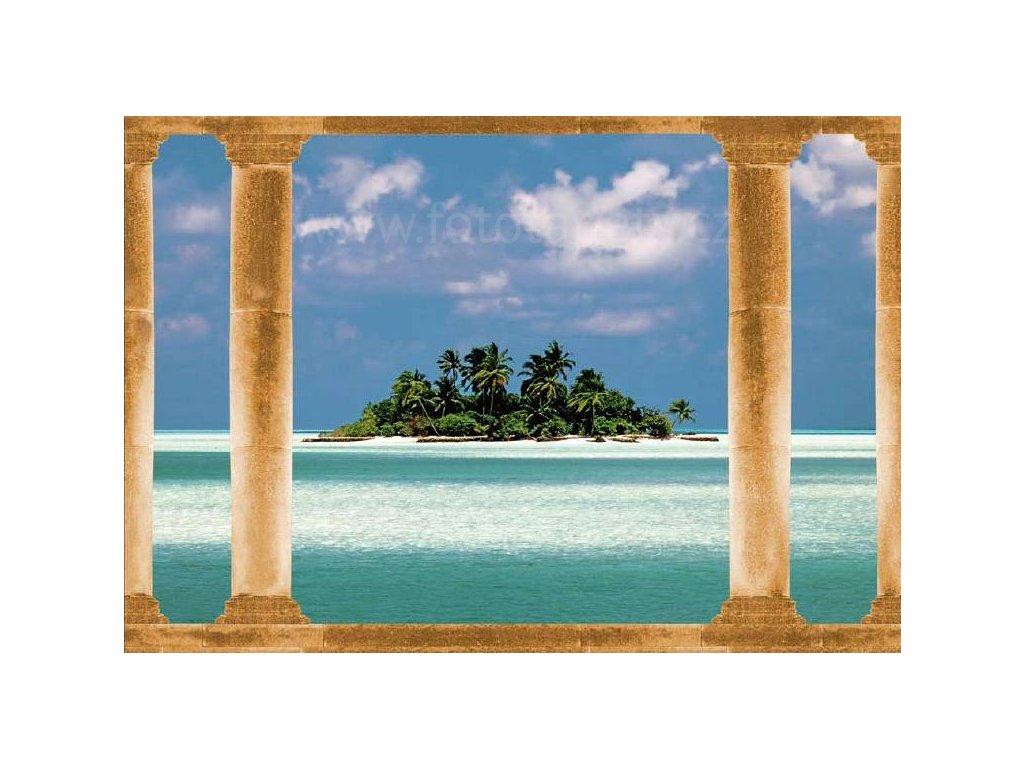 Osmidílná fototapeta  Island in the South seas, 366x254 cm, skladem poslední 2 ks!!!