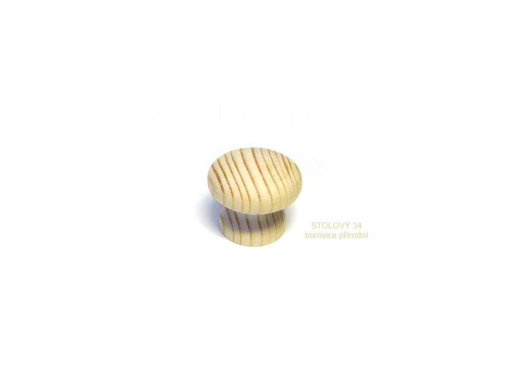 knopek dřevěný STOLOVÝ 34, doprodej