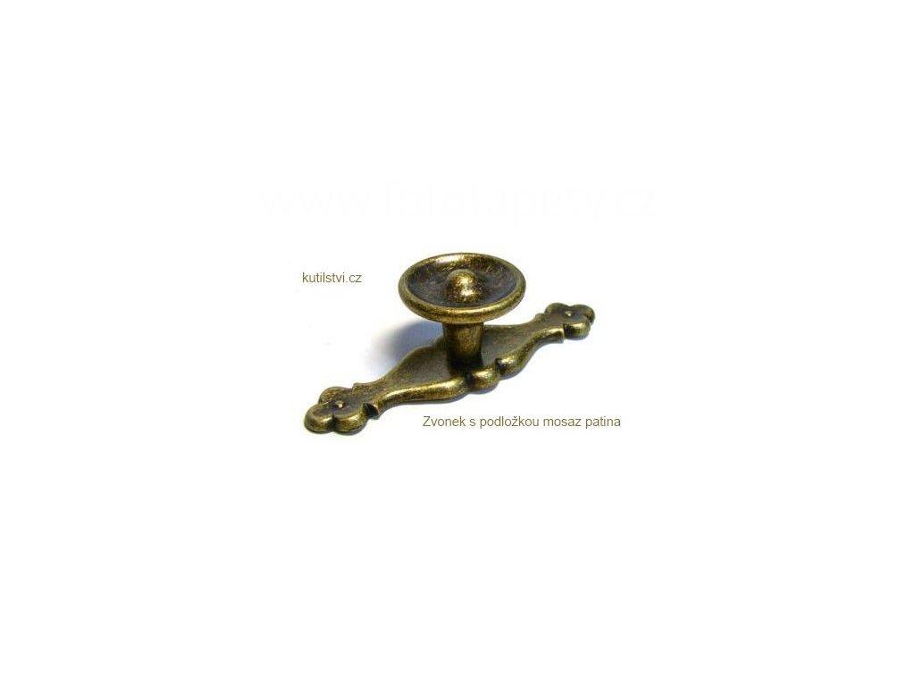 kovový knopek ZVONEK s podložkou