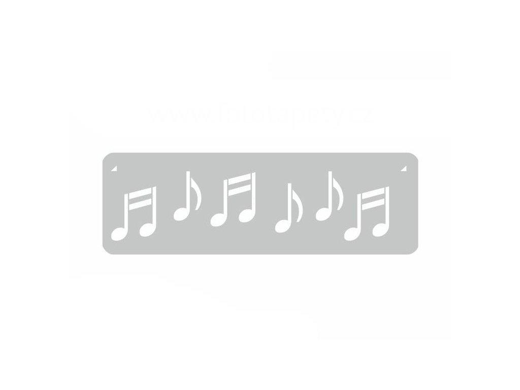 Malířská šablona a bordura Noty (Music), 14x44cm, SAB109