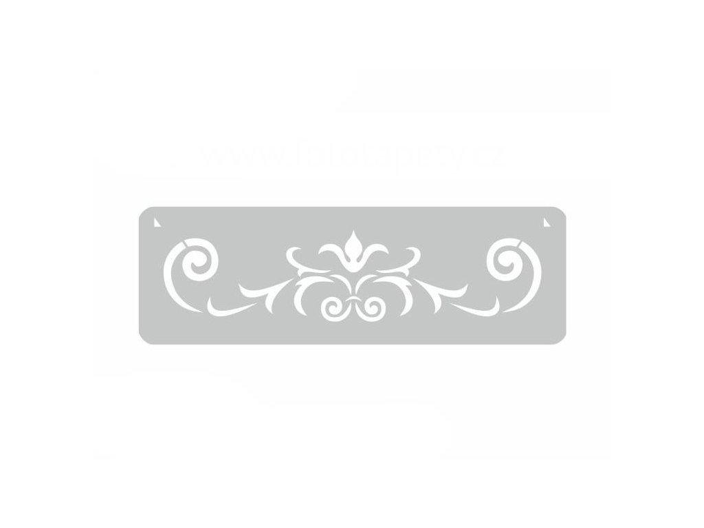 Malířská šablona a bordura Ornament (Ivy), 14x44cm, SAB121