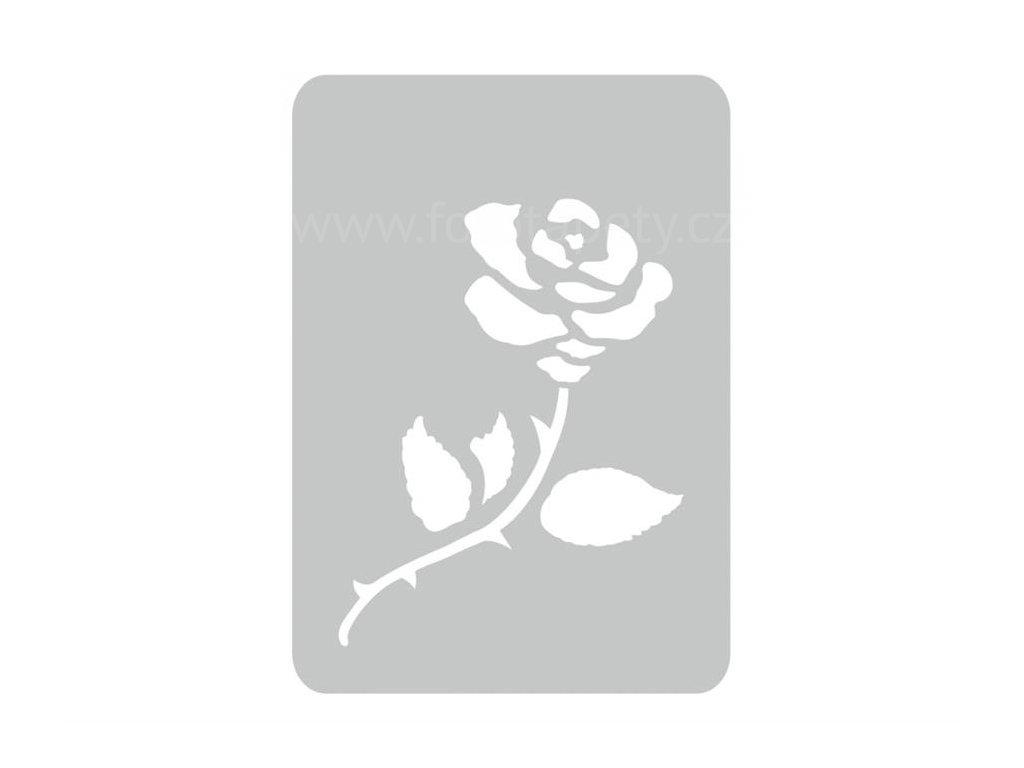 Malířská šablona Růže (Rose), 14,5x20,5cm, SAB225