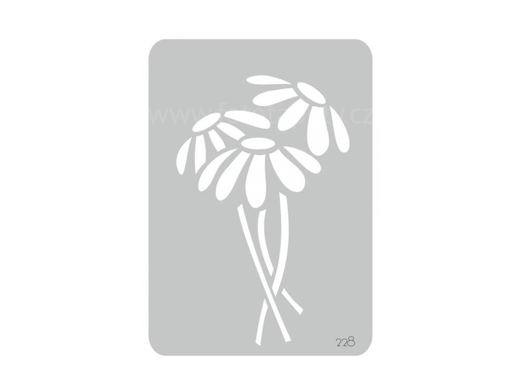 Malířská šablona Kopretiny (Daisy), 14,5x20,5cm, SAB228