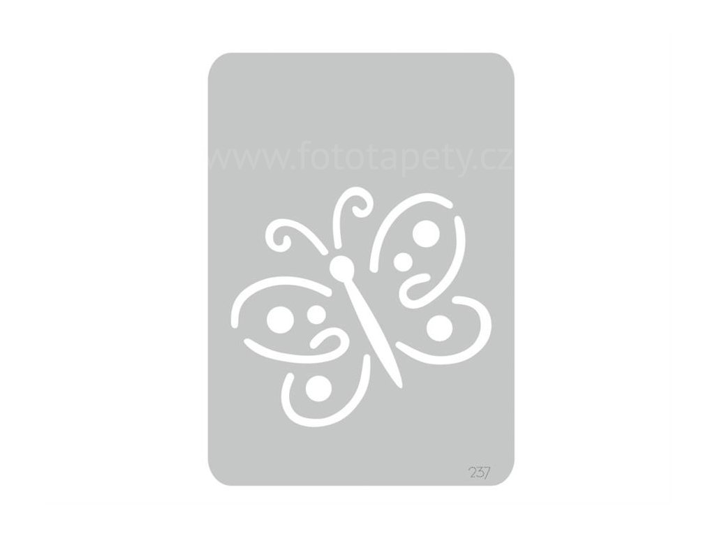 Malířská šablona Motýl (Fairy), 14,5x20,5cm, SAB237