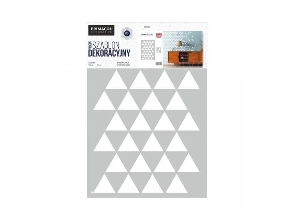 Malířská šablona Trojúhelníky (Triangles), 62x91cm, SAB520