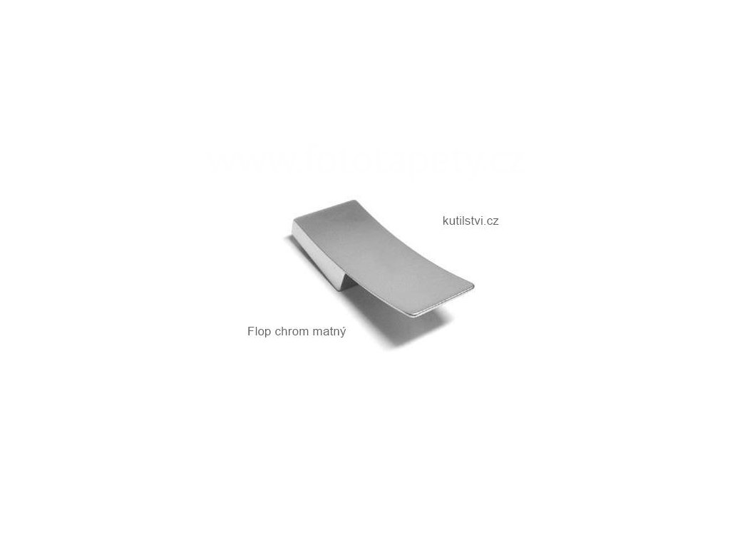 kovový knopek Flop chrom matný