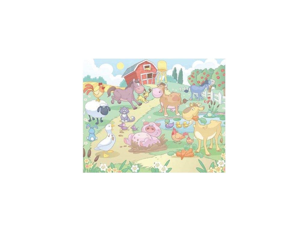 Dětská 3D fototapeta Baby farma, rozměr 244 x 305 cm